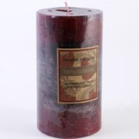 Large Strawberry Tart Scented Pillar Candle